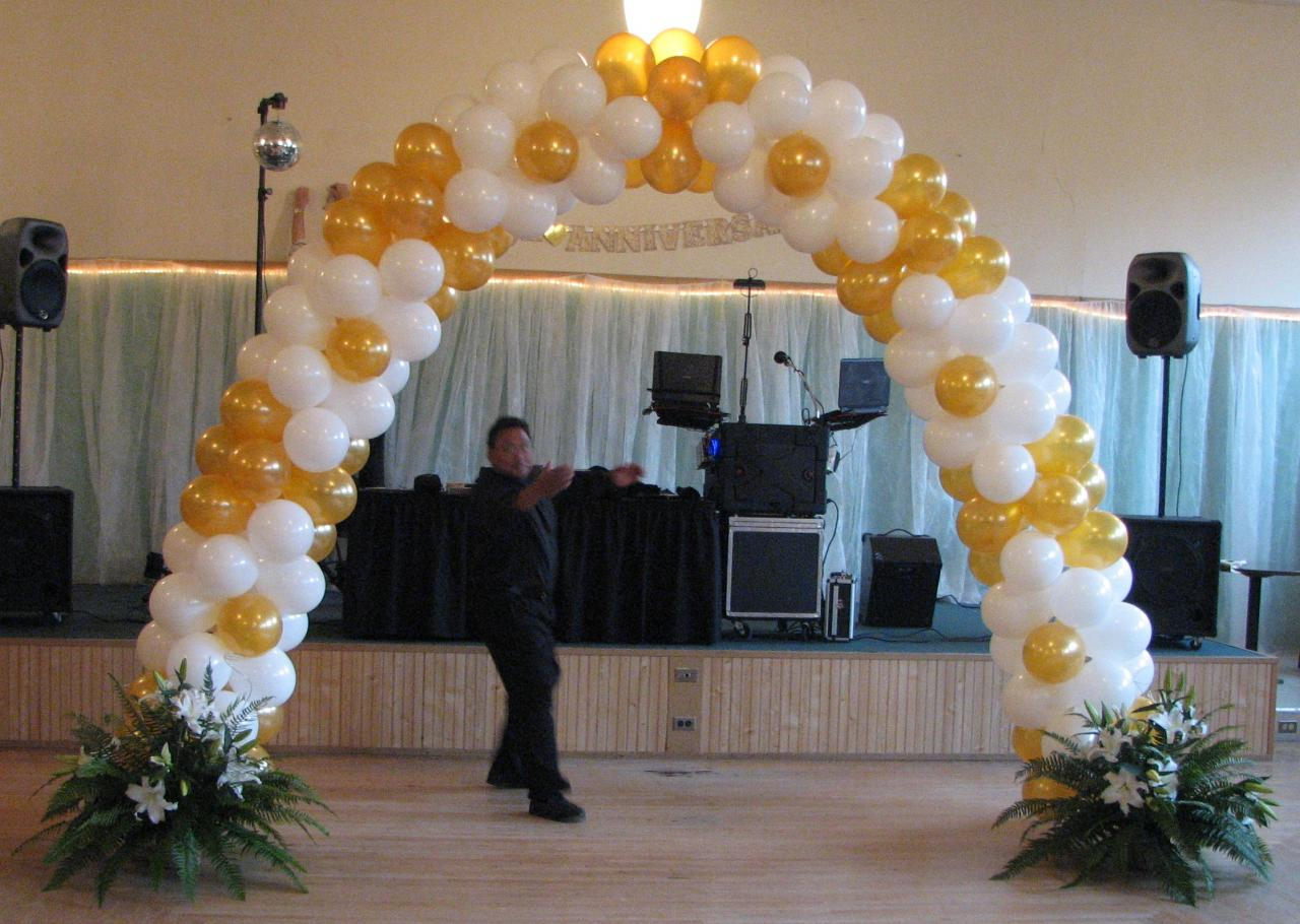 Balloons arches party favors ideas for Arch balloon decoration