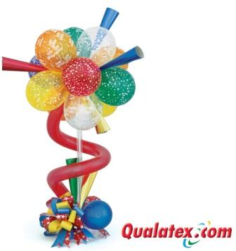 Balloon Flower Column Birthday Delivery Party Horn Arrangement