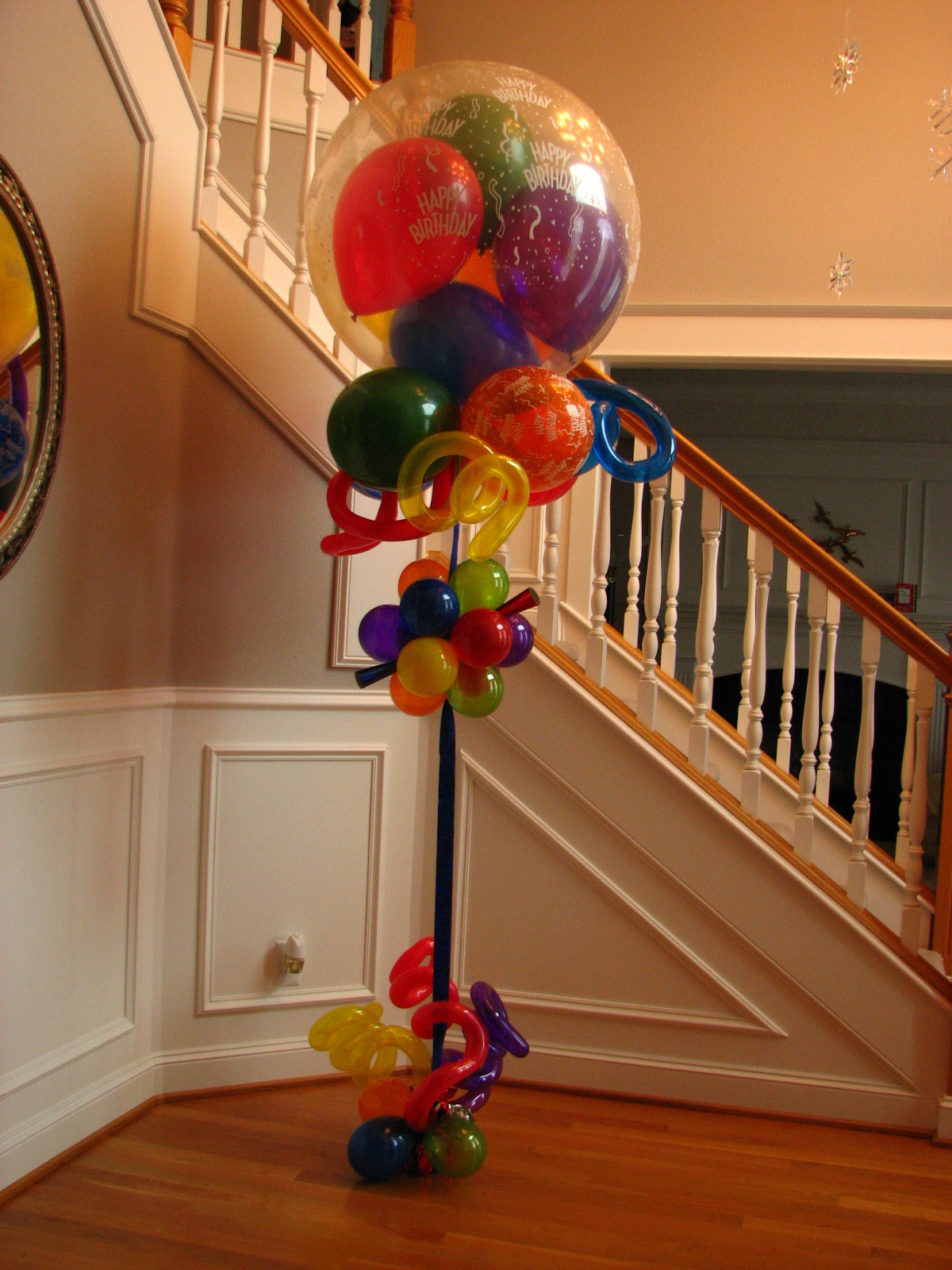 Bouquets balloons helium balloondeliveries done in portland specialty gumball topiary balloon bouquet delivery bookmarktalkfo Image collections