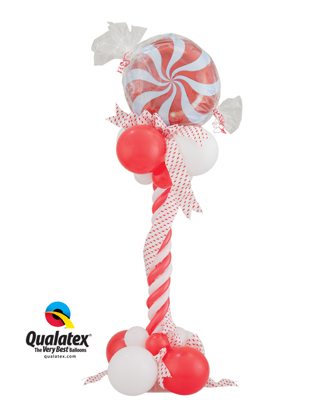 christmas candy balloon arrangement